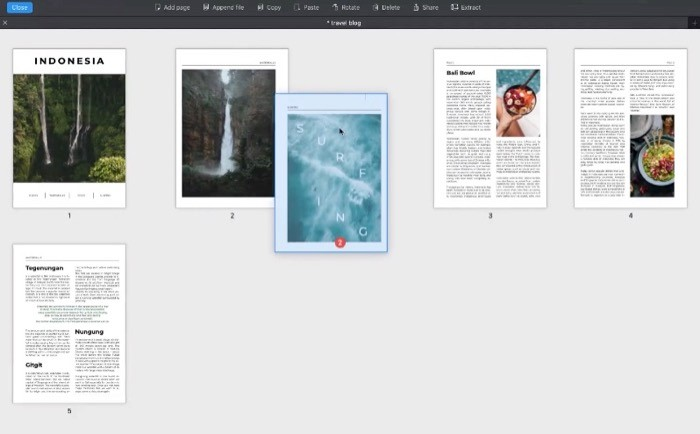 Combining multiple PDFs using PDF Expert