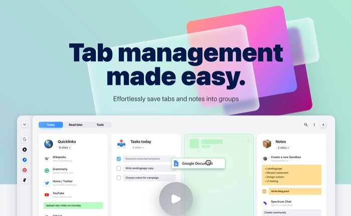 tabExtend tab management extension