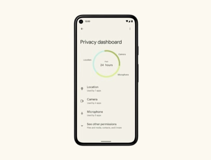 Android 12 beta privacy dashboard