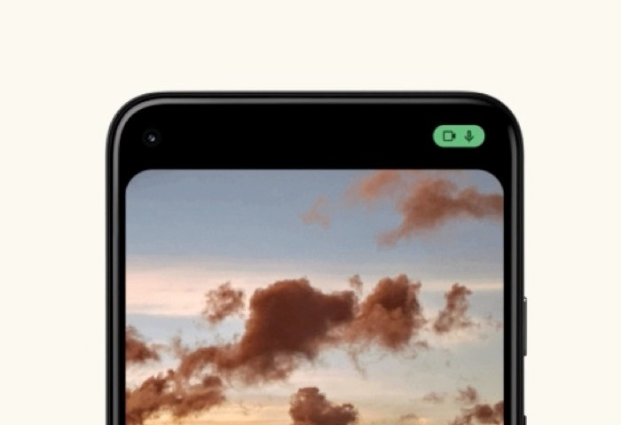 Android 12 Beta camera and microphone indicator