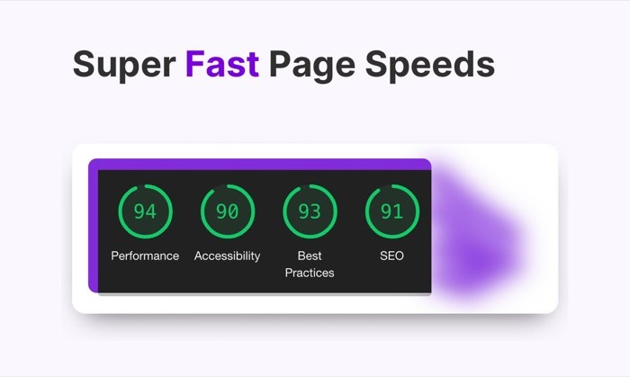 Potion fast page loading speeds