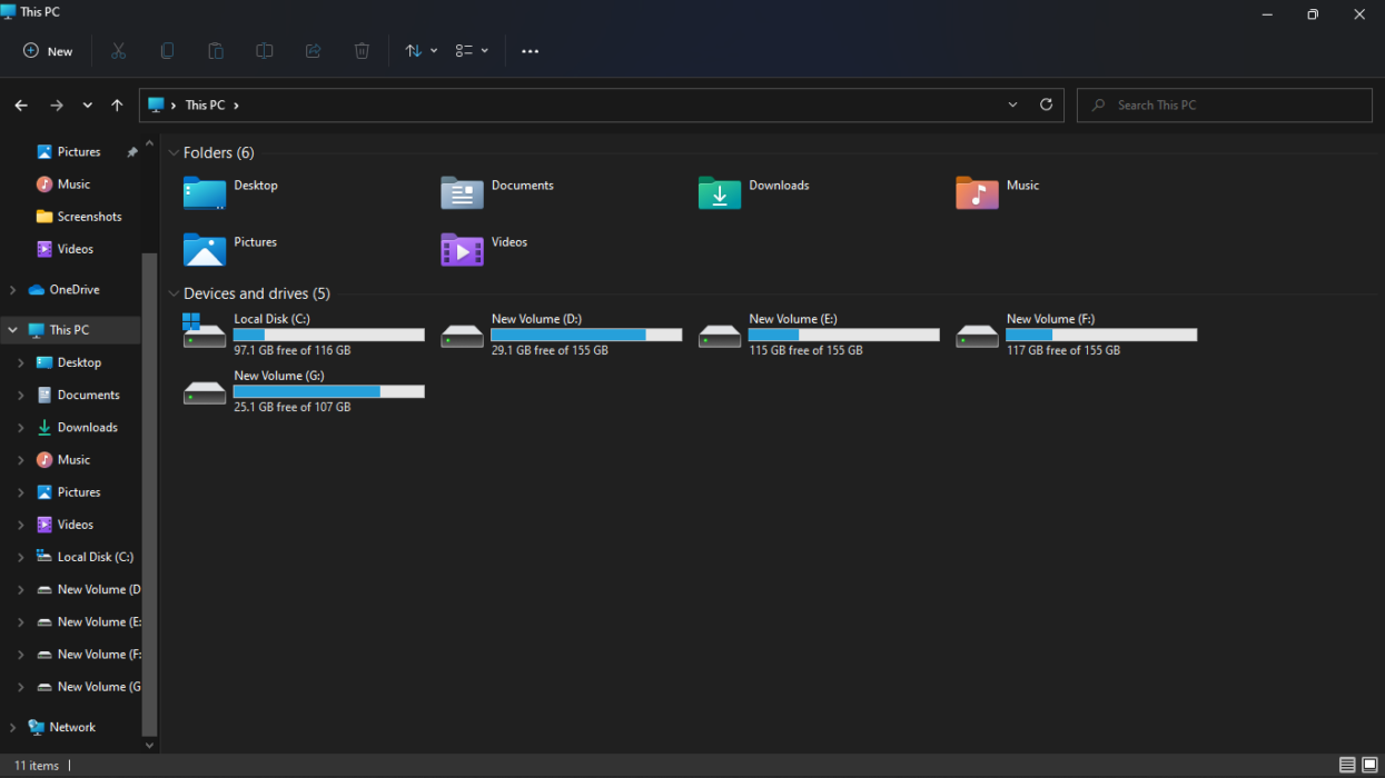 Windows 11 new file manager