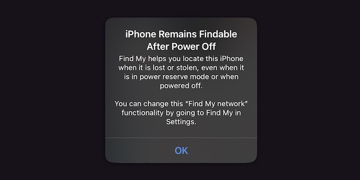 find my iPhone switched off