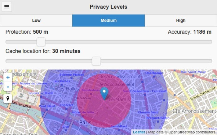 spoofing location on Chrome with Location Guard