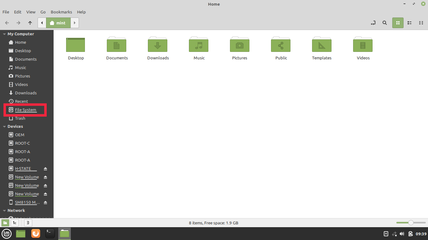 file manager linux