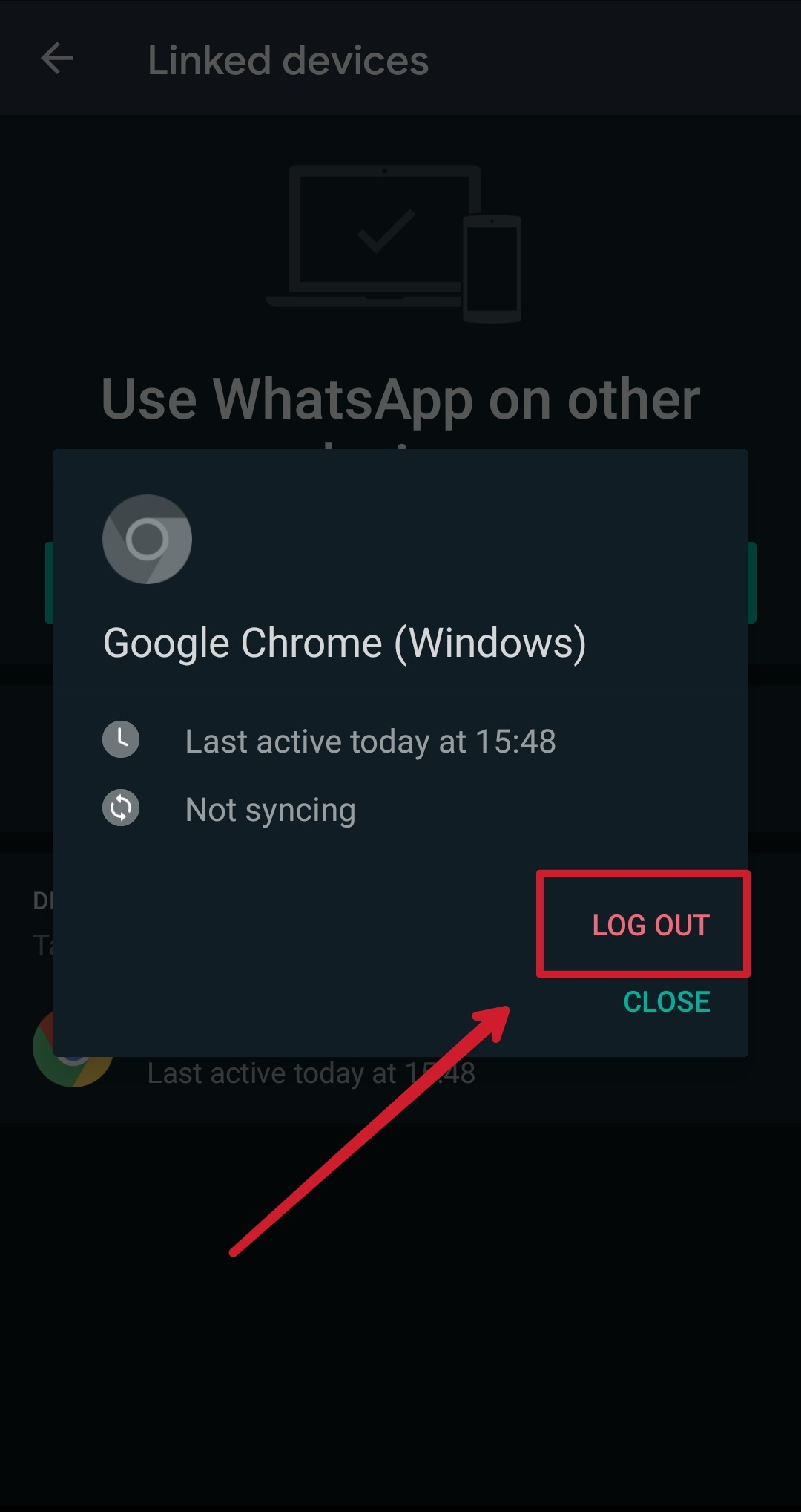 remove linked devices in whatsapp multi-device