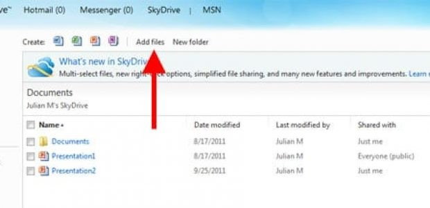 skydrive screenshot